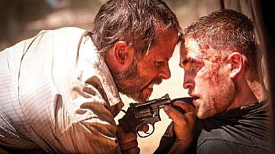 A24<br /><br /><!-- 1upcrlf2 -->Guy Pearce (left) and Robert Pattinson star in The Rover.
