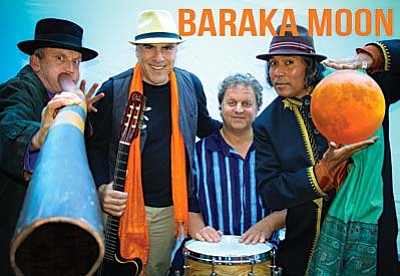 Baraka Moon's all-original music ignites from the ancient Qawaali Sufi trance songs, Indian classical ragas, Middle Eastern overtones and African percussion, plus the Australian Aboriginal didgeridoo.