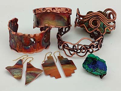 """""""Two Artists/One Element"""" jewelry designs at Casa Latina."""