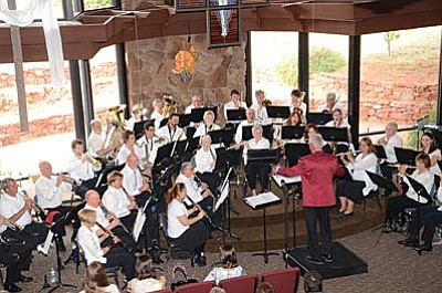 The Cottonwood Community Band, under the direction of Will Norris, consists of instrumentalists from the Verde Valley and Sedona. The members range in age from high school students to retirees. The band rehearses on Monday evenings from 7-9 p.m.