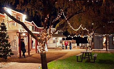 Blazin' M Ranch lights up for the holidays.