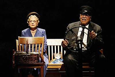 "Two of the world's greatest living actors — five-time Tony Award and three-time Academy Award nominee Angela Lansbury and two-time Tony Award winner and Academy Award winner James Earl Jones — star in Alfred Uhry's Pulitzer Prize-winning play ""Driving Miss Daisy."""