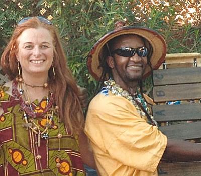 Connie Avery (left) and Baba Vusi Shibambo