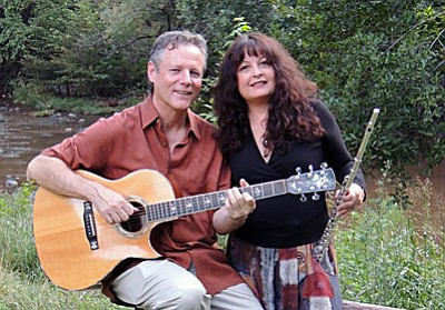 With flute, pennywhistles, and guitar, Rick Cyge and Lynn Trombetta meld influences as diverse as Celtic, African, and Mediterranean traditions to create captivating, organic music as distinctive in sound as it is diverse in scope.