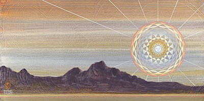 """Honshin Fine Art presents """"The Immeasurable Light of Nature's Heart."""" This special exhibit, featuring a series of mandalas of luminous light by Nicholas Kirsten Honshin, exploring the path of the heart through meditative images."""