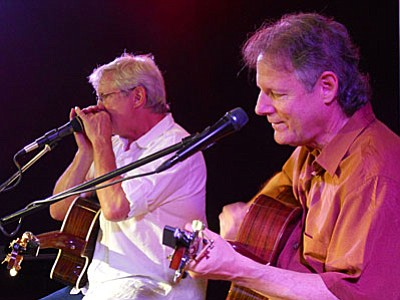 """Thursday, June 9, 7-10 p.m., Vino Di Sedona features Chris Seymour and Rick Cyge. Each of these artists brings a depth of experience and distinctive style to the mix. They released their debut CD, """"Are You Happy Now?"""" in 2012.<br /><br /><!-- 1upcrlf2 -->"""