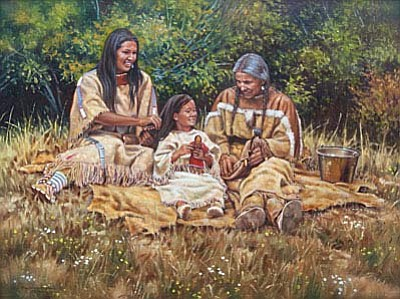"""Three Generations,"" Steven Lang available at Mountain Trails Gallery."