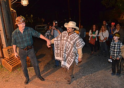 """Attendees go bump in the night during last year's Jerome Ghost Walk. 'Voices from Jerome's past: Gone but not forgotten"""" is the theme of the 13th annual event. (VVN/ Vyto Starinskas)"""