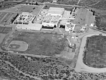 "A country school? When the ""new"" Mingus Union High School Campus was opened in 1972, The Verde Independent described the school's location as being ""south of Cottonwood.""<br> <i>Photo courtesy of Mingus Union High School</i>"