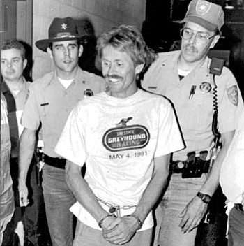 When bank robber and murderer Danny Ray Horning was arrested by deputies from the Yavapai County Sheriff's Office on July 5, 1992, the only news organization in the United States to provide on-the-scene coverage of his capture was The Verde Independent.<br> <i>VVN file photo by Dan Engler</i>
