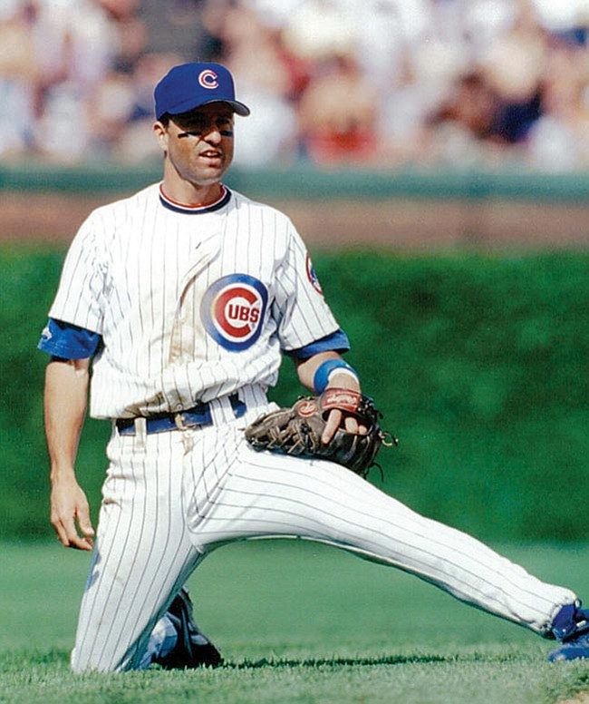 Courtesy Photo Jeff Huson playing in the field for the Chicago Cubs in his final year playing professional baseball.