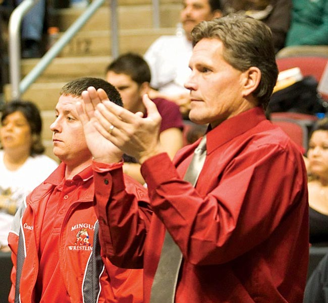 File Photo Mingus Wrestling coach Tom Wokasch honored as Coach of the Year througout Arizona and in the 4A II Divison.
