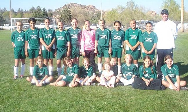 Courtesy Photo Pictured, the Verde Valley Victory:  front row, Emma Geurts, Erica Seemann, Lauren Nevitt, Dani Schwartz, Sierra Fanning, Isis Meyjes, Racheal Preschler, Haley Backus; back row, Alex Pee, Nataly Escamilla, Taylor Bailey, Sara Cochran, Shelby Hughes, Randi Schaefer, Delaney Scanlan, Angel Chavez, Gabi Guerrero, Kelby Gillies, Coach Craig Backus.
