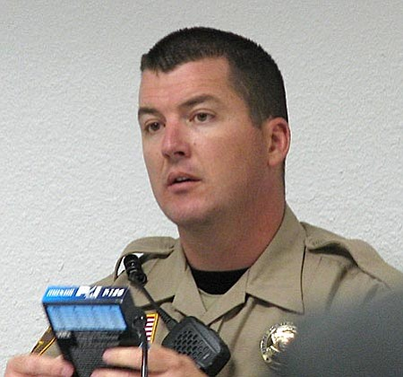 """Sgt. Jeff Newnum testified that Roberts was yelling at him and """"I knew I had an angry driver."""""""