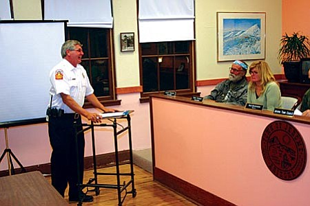 Rusty Blair, who was assistant chief, was voted in as Jerome's new fire chief.