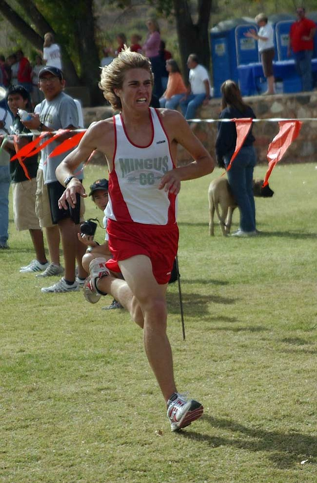 File Photo Senior Tim Freriks leads the Mingus Union cross country team once again with a 2nd place finish in Flagstaff.