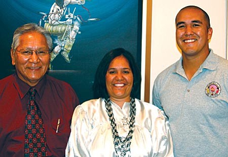 Cora-Lei Marquez, Jon Huey and Robert Jackson Sr. officially join the nine-member Yavapai-Apache Tribal Council.