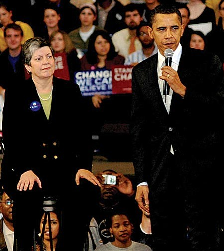 "Photo by Howard Fischer, Capitol Media Services  Gov. Janet Napolitano is going to be named the new Secretary of Homeland Security, CNN reported late Wednesday, just hours after the governor herself insisted she is ""not campaigning or seeking a job'' in the Obama administration."