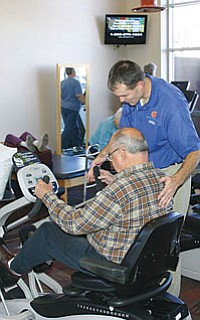 Therapy and fitness programs are enhanced with the full gym in the new facility for Northern Arizona Rehabilitation and Fitness at 480 S. Willard in Cottonwood.