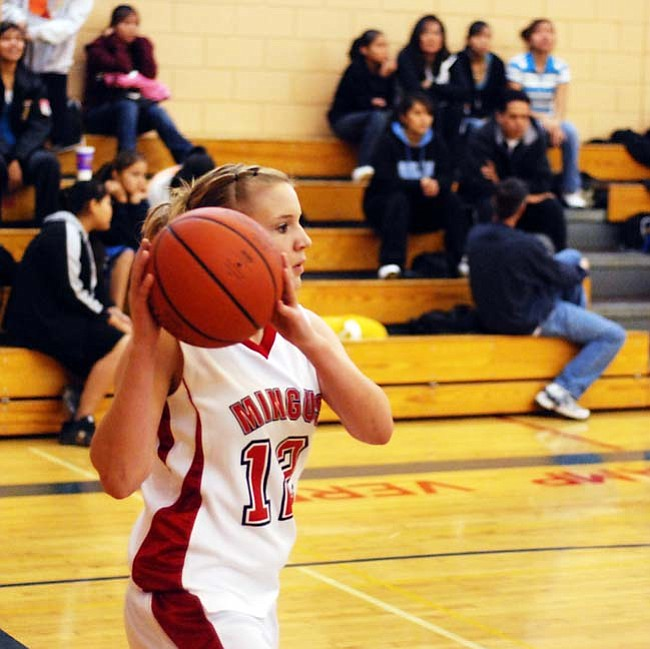 VVN/J. Pelletier Becca Shimko gets ready to pass the ball.