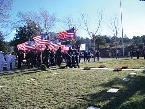 Courtesy Photo<br> Prescott National Cemetery has more than 4,000 graves of United States military men and women. The America Legion Riders of Verde Valley is raising money to place wreaths on each grave during a full military ceremony the second Saturday of December. The ceremony will be coordinated with one at Arlington National Cemetery.