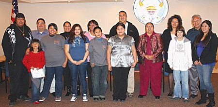 Courtesy photo Yavapai-Apache Nation Tribal Council with first quarter S.P.I.R.I.T. awards recipients.