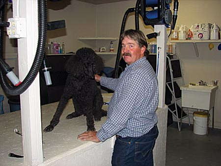Village Grooming owner Ron Stocksdale offers complete grooming services for all dogs and cats.
