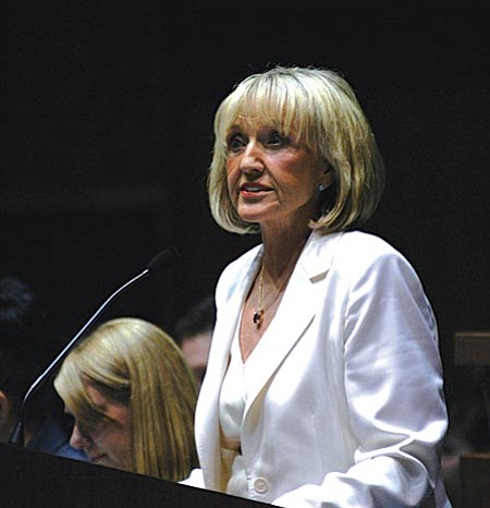 Legislative Republicans are preparing a budget for next year that involves no new taxes, a move that could court Jan Brewer's first veto.
