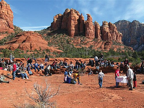 There were 89 fathers and sons on the hike hosted by Immaculate Conception Church and St. Joseph's Catholic School.