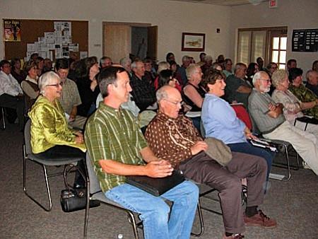 Audience participation during a recent Big Park Community Plan Review public meeting.