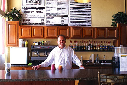 Mark Woodburn's espresso and smoothie business Jump Start is back up in a new location thanks to old friends who knew how to lend a hand.