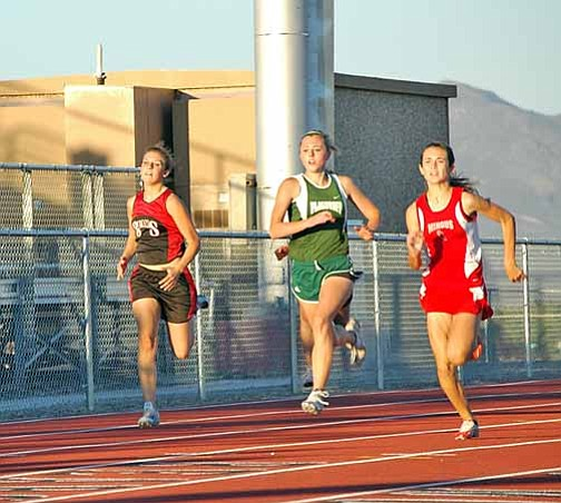 Courtesy Photo/Cheryl Hartz The Mingus Union track and field team took on region opponents at the meet at Bradshaw Mt. High School on Friday and Saturday.