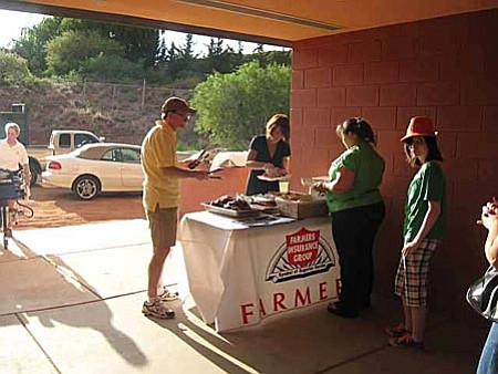The grilling Team Don & Kathy Nelms of Farmers Insurance sponsored the Promotion BBQ and all the beverages including Promotion Punch was donated by Village Chevron Tony Pugliano