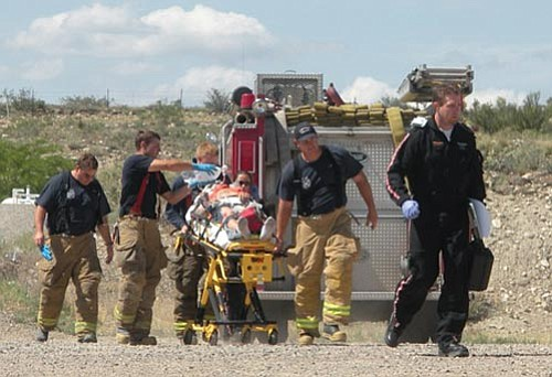 Courtesy photo<br> One person was airlifted to a Phoenix hospital after flipping a vehicle off Interstate 17 last week.