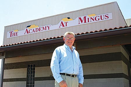 VVN/Philip Wright Tim Foist, superintendent of Mingus Union High School, stood in front of the district's newest addition: The Academy at Mingus. The Academy will offer a second chance for a high school degree for students who are at risk of not graduating or those who have already dropped out. About 10 percent of Mingus Union students drop out before graduating.