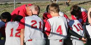 Courtesy Photo The Verde Valley 11-12 All Stars have a team meeting