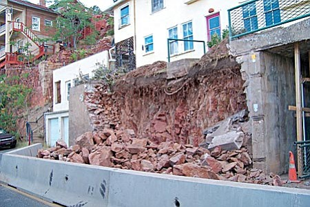 VVN/Jon Hutchinson Work begins on Jerome Retaining Wall reconstruction.