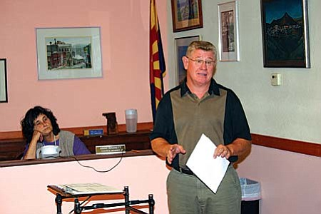 VVN/Philip Wright MUHS Superintendent Tim Foist made a presentation to the Jerome Council Tuesday night on what the M&O budget override election in November means to the high school.