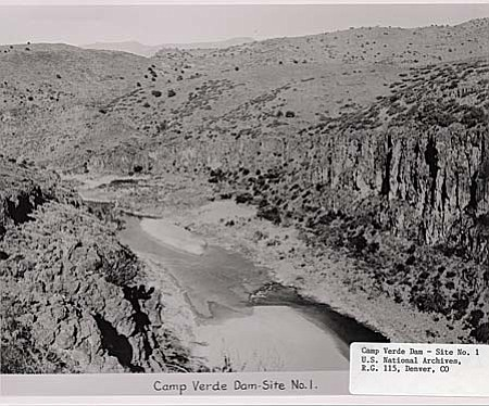 The Rio Verde Canal Company planned to build a 205,000-acre-foot dam and storage reservoir at the Horseshoe site, a diversion dam downstream near where Bartlett Dam is today, and 69 miles of canals to bring the irrigation to Paradise Valley. They also envisioned a dam on New River to capture that stream's floodwaters along with excess water coming through the canal. From the New River dam, another 60 miles of canals would carry water west to another dam on the Hassayampa River.