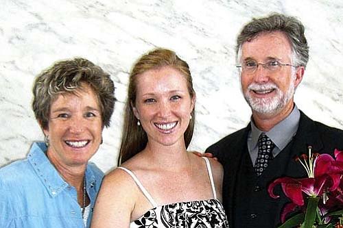Tamara Bill Fernandes, center, joins her parents Dr. David and Jennette Bill, Sedona Dental Arts