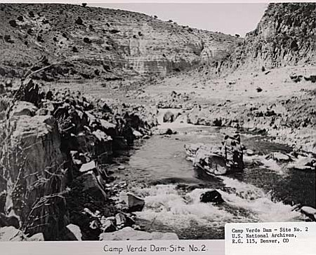 Camp Verde Dam Site No. 2, from the 1930s.
