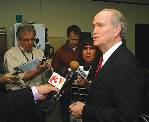 Capital Media Services<br> John Munger, former head of the Arizona Republican Party, announced his bid to be governor on Friday.