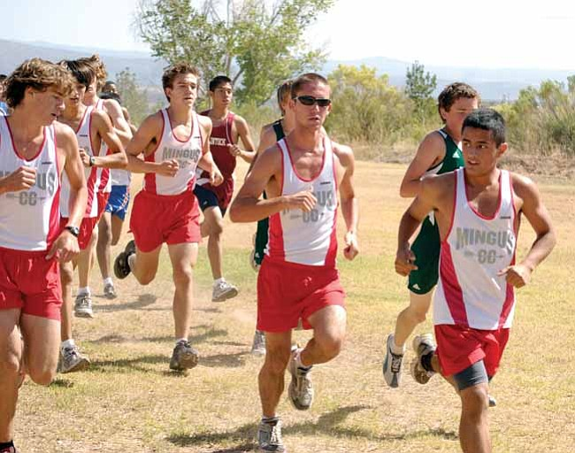 VVN/J. Pelletier  The Mingus Union boys team runs together earlier this season.