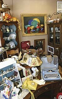 VVN/Philip Wright Multiple dealers offer antiques and collectibles inside A Checkered Past Antiques at 907 N. Main St. in Old Town Cottonwood.