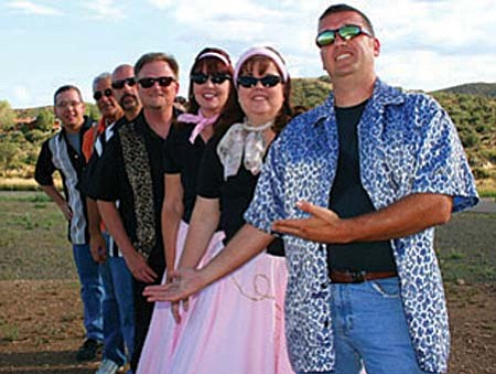 Sky Daddy & the Pop Rocks, a Christian '50s band from Prescott Valley, perform at The Gathering cafe outreach on Nov. 6. The Gathering is at the corner of Mingus and Main, across from Circle K.