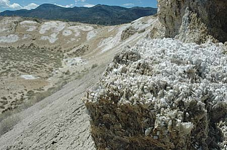 A salt mine and gypsum mine in the Camp Verde indicate the last vestiges of the lake were in that area. As the lake shrank, the minerals concentrated in the last fluids, eventually dropping out of solution and forming the evaporite deposits. Steve Ayers/VVN