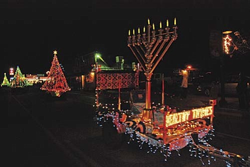 The giant menorah from last years Camp Verde Parade of Lights.