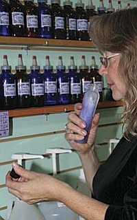 VVN/Raquel Hendrickson<br /><br /><!-- 1upcrlf2 -->Isolde Dryer tests the scent of a lotion she is creating, one of the many specialty products sold at Desert Dancer, a Reader's Choice winner for best gift shop six years in a row.