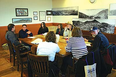 County Supervisor Chip Davis held a meeting Thursday with Jerome officials and members of the Jerome Historical Society and Chamber of Commerce to present his plan for getting the now-closed Jerome State Historic Park reopened late next summer.<br/>VVN/Philip Wright<br/>