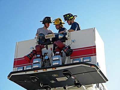 cottonwood fire dept tests 100 foot ladder and engine the verde